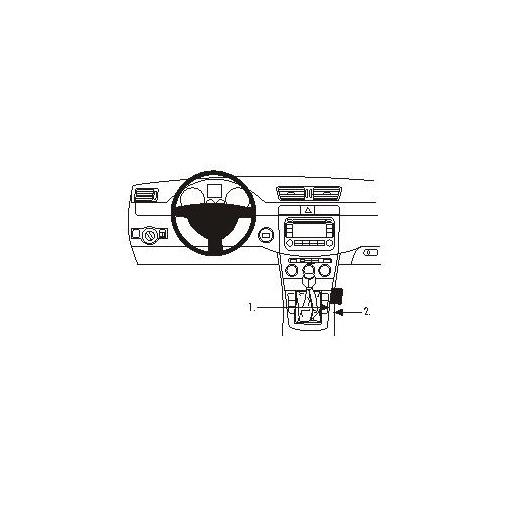 Brodit ProClip 833604 Montagekonsole für Volkswagen Passat Baujahr 2005-2014
