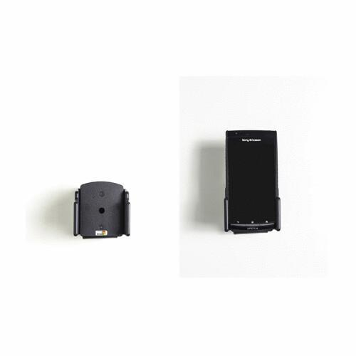 schwarz Breite: 62-77mm, Dicke: 6-10mm Brodit 511307 passiv universal Kfz-Halterung
